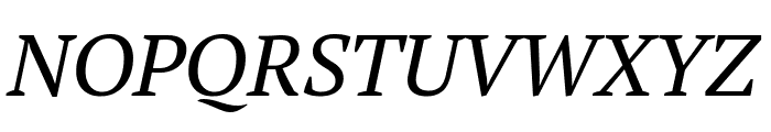 PT Serif Italic Font UPPERCASE