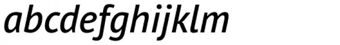 PT Sans Pro Demi Italic Font LOWERCASE