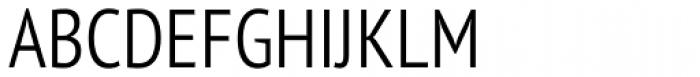 PT Sans Pro Narrow Light Font UPPERCASE