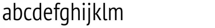 PT Sans Pro Narrow Light Font LOWERCASE