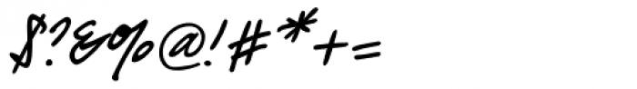 PT Script Barguzin Font OTHER CHARS