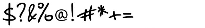 PT Script Breeze Font OTHER CHARS