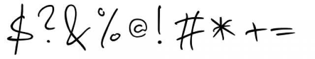 PT Script Fog Font OTHER CHARS