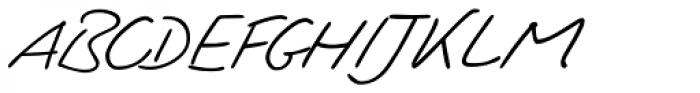 PT Script Zephyr Font UPPERCASE