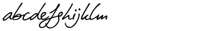 PT Script Zephyr Font LOWERCASE