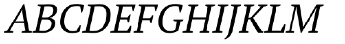 PT Serif Pro Book Italic Font UPPERCASE