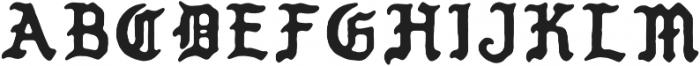 PUEBLO BLACKLETTER Regular otf (900) Font UPPERCASE
