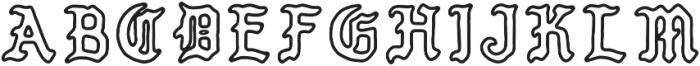 PUEBLO BLACKLETTER Regular otf (900) Font LOWERCASE