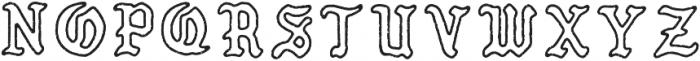 PUEBLO BLACKLETTER Textured otf (900) Font LOWERCASE