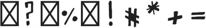 PUMPERNICKEL handwritten otf (400) Font OTHER CHARS