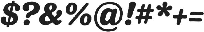 Pueblito ExtraBold  Italic otf (700) Font OTHER CHARS