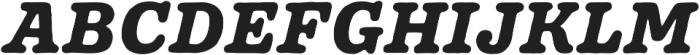 Pueblito ExtraBold  Italic otf (700) Font UPPERCASE