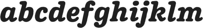 Pueblito ExtraBold  Italic otf (700) Font LOWERCASE