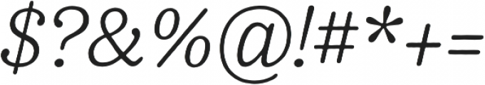 Pueblito ExtraLight Italic otf (200) Font OTHER CHARS