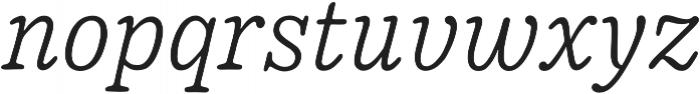 Pueblito ExtraLight Italic otf (200) Font LOWERCASE
