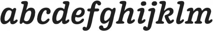 Pueblito Medium Italic otf (500) Font LOWERCASE