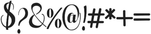 Pugsley otf (400) Font OTHER CHARS