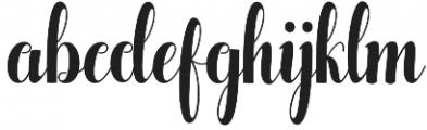 Pugsley otf (400) Font LOWERCASE