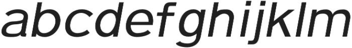 Pulse Regular Italic otf (400) Font LOWERCASE