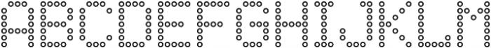 Punto Circle-Light-Outline otf (300) Font UPPERCASE