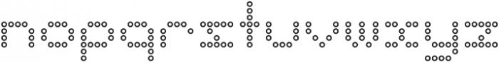Punto Circle-Light-Outline otf (300) Font LOWERCASE