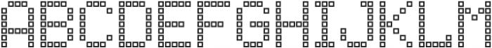 Punto Square-Light-Outline otf (300) Font UPPERCASE