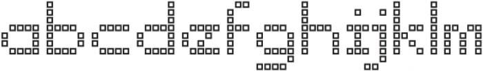 Punto Square-Light-Outline otf (300) Font LOWERCASE