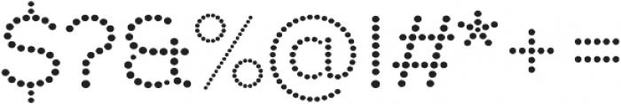 Punto otf (700) Font OTHER CHARS