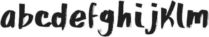 PureFont Regular otf (400) Font LOWERCASE