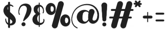 Puresity Burbon otf (400) Font OTHER CHARS