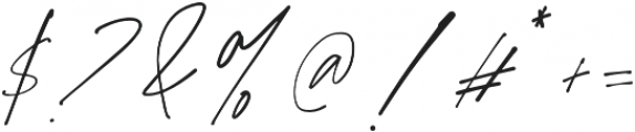 Purxious Signature otf (400) Font OTHER CHARS