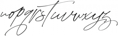 Purxious Signature otf (400) Font LOWERCASE