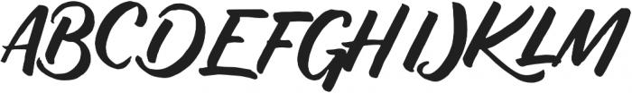 Push Script Regular otf (400) Font UPPERCASE