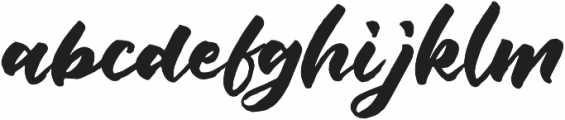 Push Script Regular otf (400) Font LOWERCASE