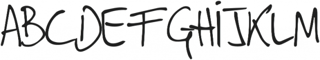 punks and skins otf (400) Font LOWERCASE
