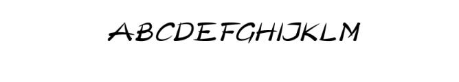 Pull Italic.otf Font UPPERCASE