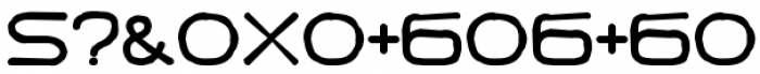 Punavuori Distorted Font OTHER CHARS