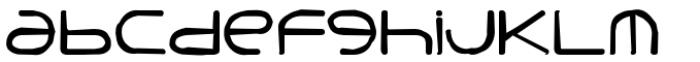 Punavuori Distorted Font LOWERCASE