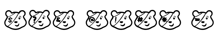 PUDSEY BEAR Font OTHER CHARS