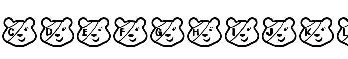 PUDSEY BEAR Font UPPERCASE