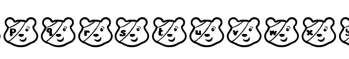 PUDSEY BEAR Font LOWERCASE