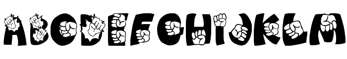 PUNCH!!!!! Font UPPERCASE