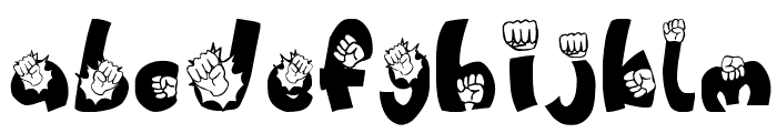 PUNCH!!!!! Font LOWERCASE