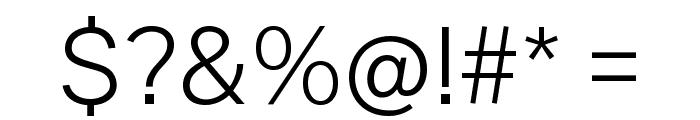Public Sans ExtraLight Font OTHER CHARS