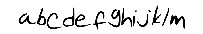 Pudding Script Font LOWERCASE
