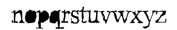Pudmonkey ShrapnelFree Font LOWERCASE