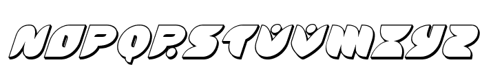 Puff Angel 3D Italic Font UPPERCASE
