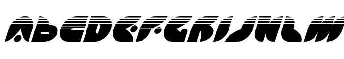 Puff Angel Halftone Italic Font UPPERCASE