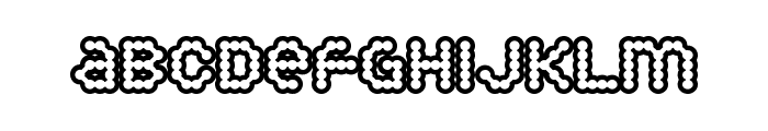 Puffy Dreamland Font UPPERCASE