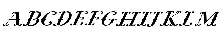 Pugsley Oblique Font UPPERCASE